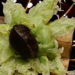 御料理 きたかど - おまかせ 鰆の幽庵焼きと蕗の薹の天ぷら