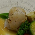 御料理 きたかど - おまかせ 帆立の昆布〆酢味噌