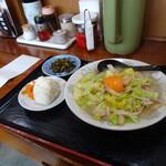 らーめんの力麺 - ちゃんぽん770円+おにぎり140円