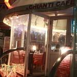 イルキャンティ・カフェ - ビニールがはられたほとんど屋内のわんこOKテラス席