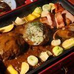 Hikinikuya - ◆ハンバーグスペシャル焼き(ビーフ×ラム) 2,280円(税別)