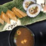 海の幸 魚長 - 穴子寿司、赤だし