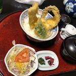 海の幸 魚長 - 穴子1本天丼 確か1300円くらいで これはお値打ち!!