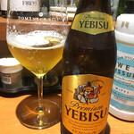 Gyoza Bar けいすけ - ビールはセルフで。550円