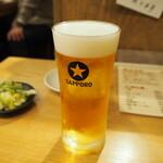 焼鳥専門 ぎんねこ - 生ビール