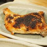 焼鳥専門 ぎんねこ - 新子焼き(塩:モモ肉)