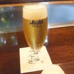 ステーキ池田 - グラスビール