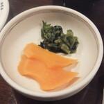 ステーキ池田 - 香の物