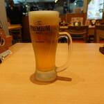博多一幸舎 - 生ビール(550円)