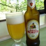 ベルヴェデーレ - モレッティ・ビール 700円