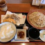 魚菜酒蔵 だいがく - ホタルイカの天ぷら定食