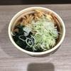狭山そば - 料理写真:ネギ大目・天ぷらそば420円