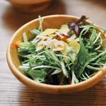 嵯峨野湯 - セットのサラダ