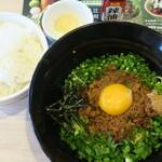 ガスト - 料理写真:名古屋台湾まぜそば&ご飯セット