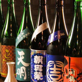 飲み放題+1,000円で日本酒40種以上店内全てが飲み放題!