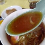 中華 たむら - 【2020.3.9(月)】醤油ラーメンのスープ