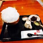 甘味処 楓 - 料理写真:宇治金時ミルク