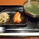 127107359 - ナムルとキムチとスープ