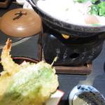 12712683 - 天ぷらと、豆乳鍋