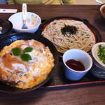 武蔵そば - カツ丼ざるセット