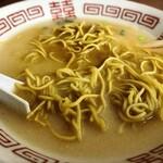 127126452 - ラーメンのスープ残りにカレー味替玉を投入