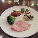 ロ・スパッツィオ - 「前菜5種盛り合わせ」
