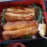 和風レストラン まるまつ - いわし唐揚げ重とミニそばランチ598円+税