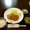 洋風食彩旬香亭 - 料理写真:豚バラ肉の生姜焼+メンチ(ランチ)