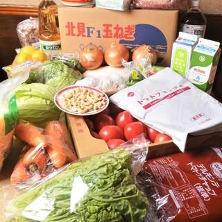 地元産・国産の食材&本場インドのスパイスを使用!