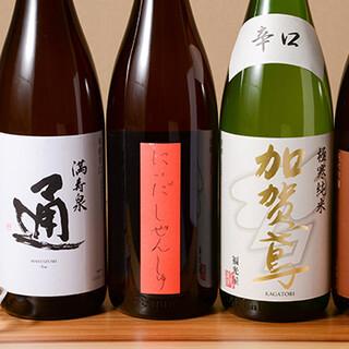 季節の日本酒や多彩な焼酎など、豊富なドリンクメニュー