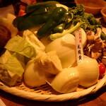 127148660 - 野菜盛り(玉ねぎは札幌黄)