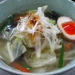麺屋 和 - タンメン 塩のちカレー(仙寿卵半玉付き)