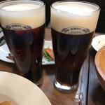 コーンバレー - 黒ビールもあったのでハーフ&ハーフ❣️