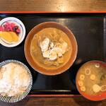 小作 - もつ煮定食