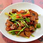 喜家酒館 - 牛肉と唐辛子のオイスターソース炒め
