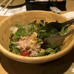 酒湊 - 豆腐とじゃこのサラダ