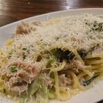 イタリア食堂 Ciao!! - 豚バラと青梗菜(チンゲンサイ)の白ごまクリームソース