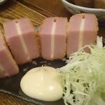 三七三 - 肉厚のチーズハムカツ