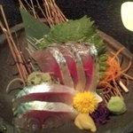 九州自慢 - 関鯖のお造り