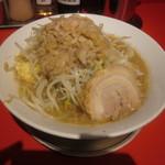 ジャンクガレッジ - ラーメン 麺ヌキ、ヤサイ、アブラ、ニンニク増し(2012/4/28)