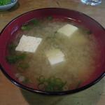 安田屋 - 【わらじかつ丼 1枚】お味噌汁は出しがきいてて美味しかった...