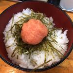 元祖 中洲屋台ラーメン 一竜 - めんたいご飯(ごはんセット)