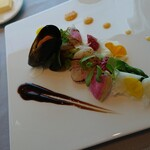 sazantawa-dainingu - 前菜 ムール貝と帆立