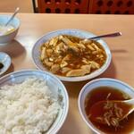 安楽 - 麻婆豆腐定食800円