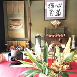 たわらや - その他写真:京都流のお雛様の飾りつけ(お内裏様とお雛様は関東と逆)