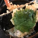 たわらや - 料理写真:名物セットのミニ天丼