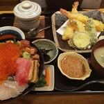 塚本鮮魚店 - 極み海鮮丼・天ぷら膳(ゴマしょうゆ)