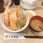Tempurasakaba agarushouten - お得天丼650円             ランチ全てのメニューに、味噌汁、サラダ、漬物が付きます。