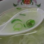 餃子の王将 - 天津飯に付くスープ