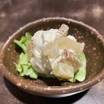 東京厨房 - いぶりがっこのクリームチーズ和え